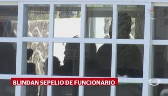 Blindan sepelio de funcionario de Pemex, en Salamanca