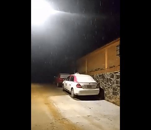 Cae nieve en Cuajimalpa y aguanieve en Tlalpan