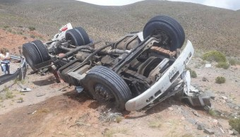 Camión vuelca Argentina telescopio valorado 8 mdd