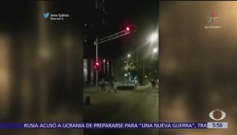 Captan asalto a peatones en Paseo de la Reforma, CDMX
