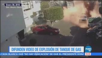 Captan explosión de tanque de gas en la CDMX