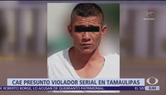 Capturan a presunto violador de 9 mujeres en Tamaulipas