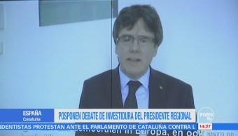 Carles Puigdemont emite un mensaje después del aplazamiento de su investidura