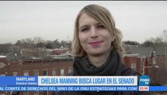 Chelsea Manning Busca Lugar Senado Maryland