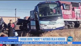 Choque Entre Chepe Autobús 8 Heridos Chihuahua