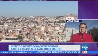 Cientos de familias enfrentan heladas en zonas vulnerables de Zacatecas