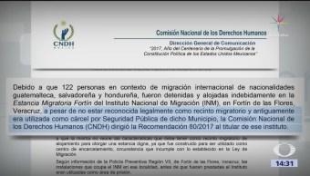 Cndh Instituto Nacional Migración Violó Derechos Migrantes