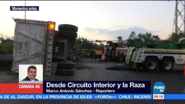Circulación lenta en Calzada de Tlapan, en la Ciudad de México