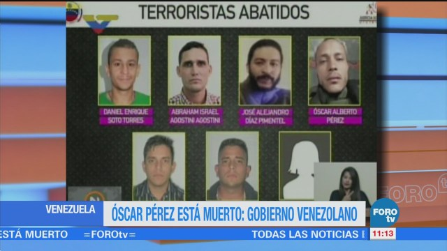 Confirman muerte de Oscar Pérez en Venezuela
