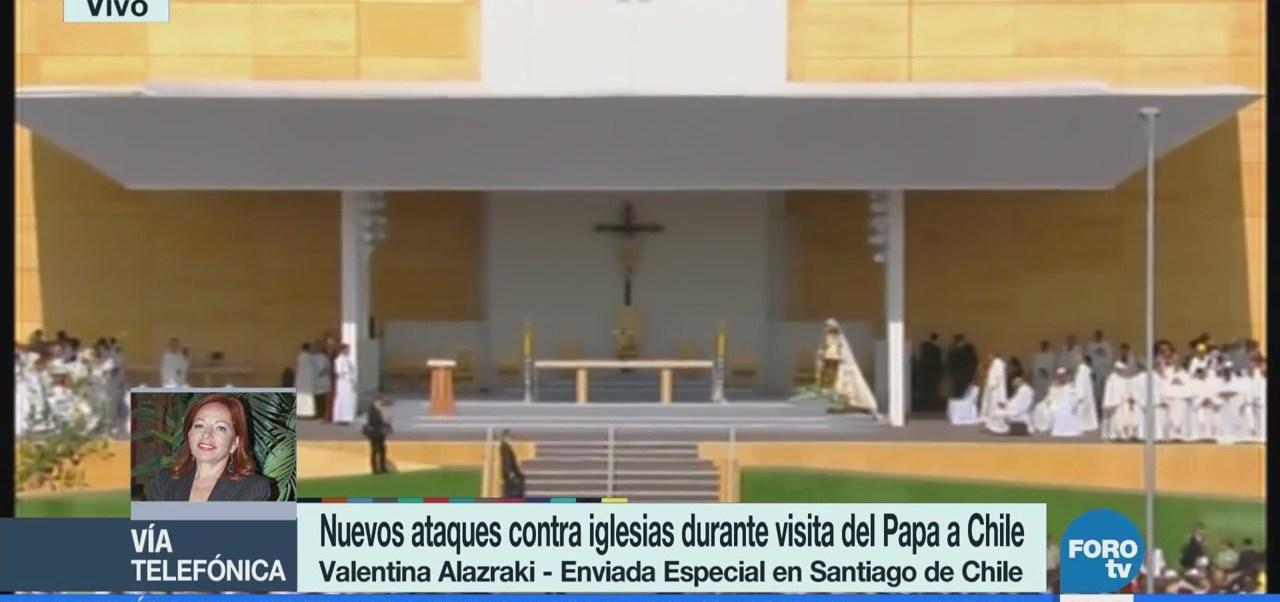 Continúan las protestas durante la visita del papa Francisco a Chile