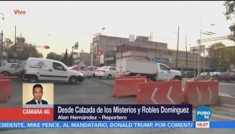 Continúan Obras Construcción Metrobús Sobre Avenida Misterios