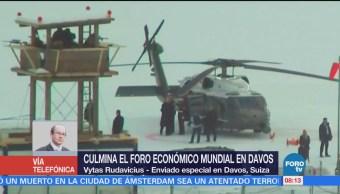 Culmina Foro Económico mundial Davos