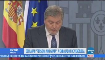 Declaran Persona Non Grata Embajador Venezuela Madrid