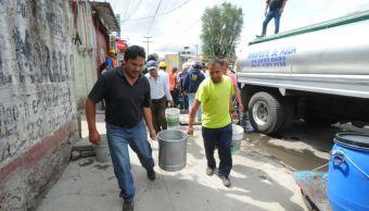 vecinos inconformes por falta de agua cierran avenida ceylan, en delegacion azcapotzalco