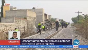 Descarrilamiento de tren en Ecatepec deja cinco muertos
