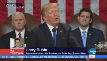 Discurso de Trump fue moderado, señala Larry Rubin