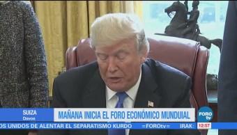 Donald Trump detallará su política económica de 'América primero' en Davos