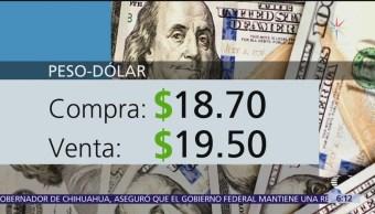 El dólar se vende en $19.50