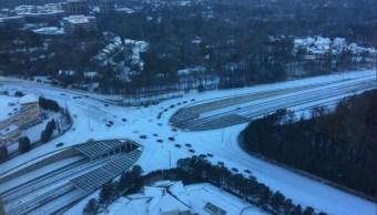 el sur de estados unidos amanece con nieve