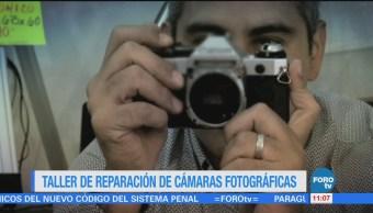 El taller de reparación de cámaras fotográficas