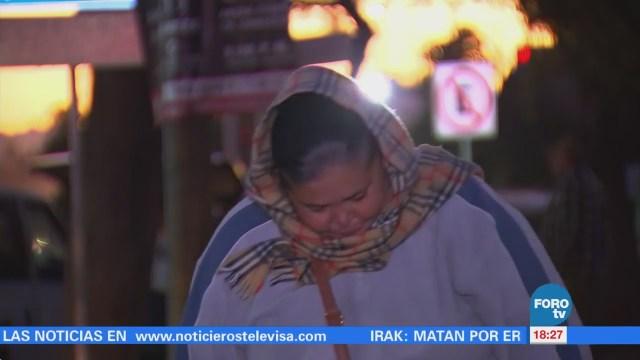 En Sonora el termómetro marcó temperaturas de hasta nueve grados
