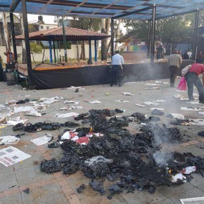 Se registra nuevo enfrentamiento en evento de Claudia Sheinbaum en Coyoacán