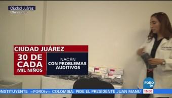 Entregan 17 aparatos auditivos a niños en Ciudad Juárez