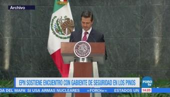 EPN se reúne con gabinete de seguridad