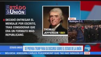 Estado De La Unión Discurso Sobre Tradición Estadounidense