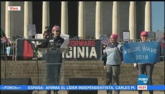 EU registra multitudinarias marchas por los derechos de las mujeres