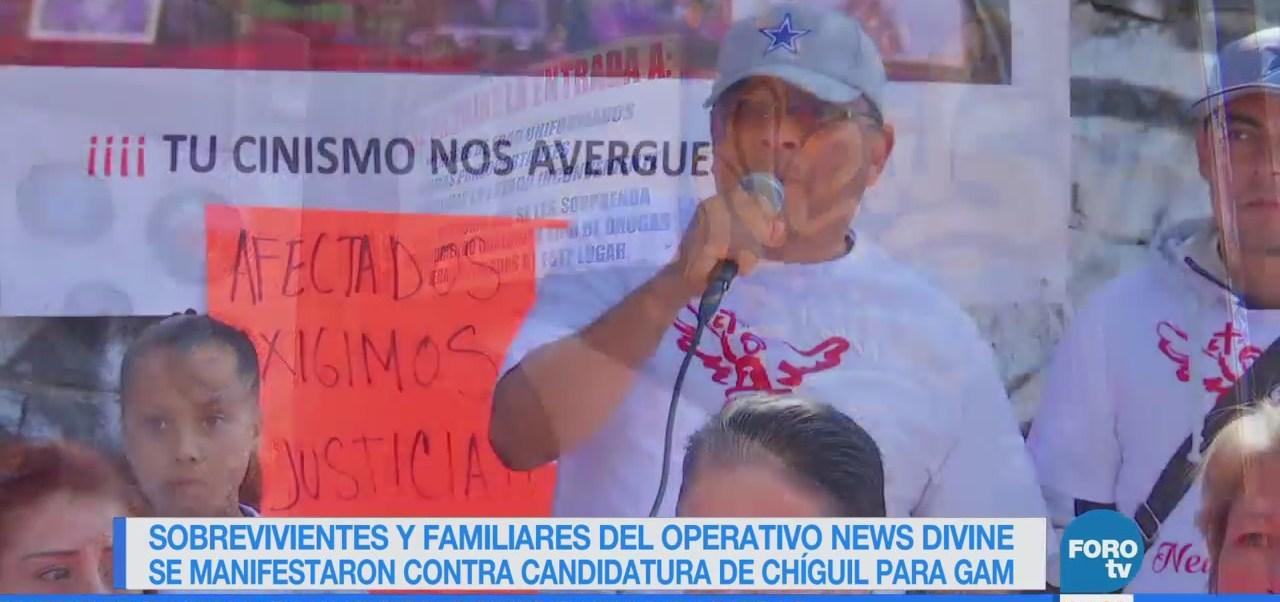 Familiares y sobrevivientes del News Divine protestan contra candidatura de Chíguil