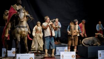 Figuras navidenas recuperadas en Italia. (AP)