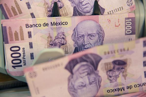 Peso mexicano a la baja frente al dólar