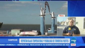 Frente frío 22 provoca tormentas en Campeche