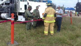Controlan fuga de gas en Comalcalco, Tabasco