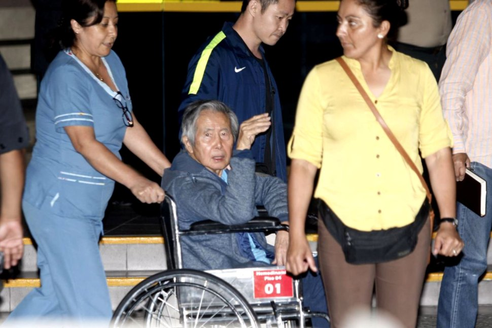 Expresidente Alberto Fujimori recibe alta médica Perú