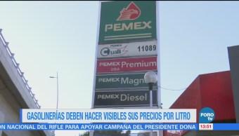 Gasolineras deben tener a la vista sus precios