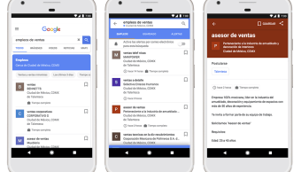 Google activa nueva experiencia de búsqueda de empleos en México