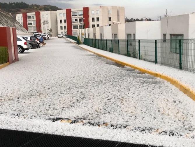 Se registraron lluvias y granizo en la Ciudad de México