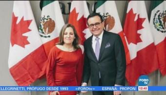 Ildefonso Guajardo se reúne con Chrystia Freeland