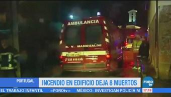Incendio Edificio 8 Muertos Portugal Ocho Personas