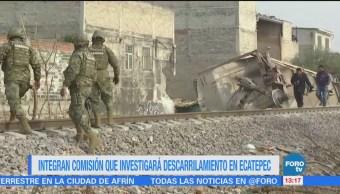 Integran comisión que investigará descarrilamiento en Ecatepec