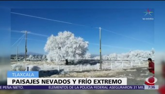 Intensas nevadas en Tlaxcala