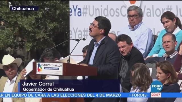 Javier Corral Realiza Mitin Informativo Chihuahua