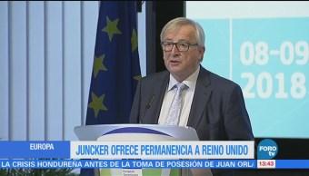 Jean Claude Juncker invita a Reino Unido a quedarse en el bloque