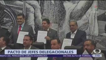 Jefes delegacionales firman pacto de civilidad