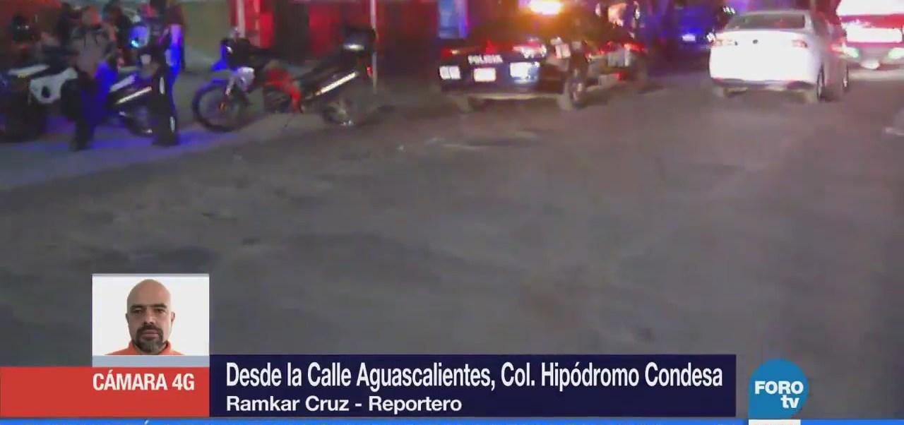 Elementos de emergencia atienden corto circuito en edificio de la Condesa