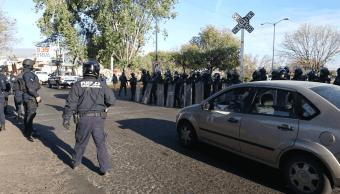 Liberan vías del tren en Morelia; detienen a 29 personas