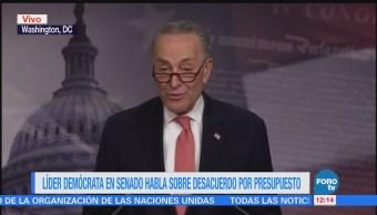 Líder demócrata en Senado habla sobre desacuerdo por presupuesto