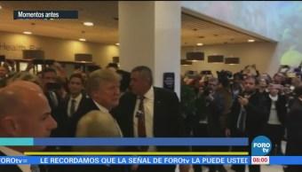 Llega Trump al Foro Económico Mundial en Davos